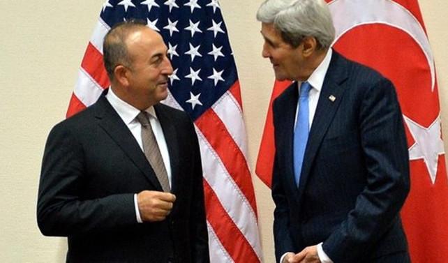 Çavuşoğlu ve Kerry Rakka'yı görüştü