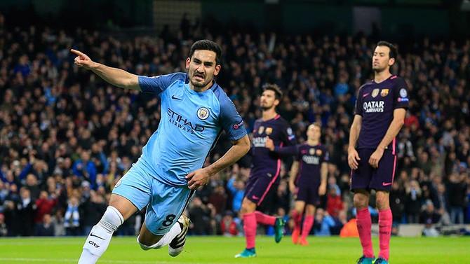 İlkay attı Manchester City, Barcelona'yı devirdi