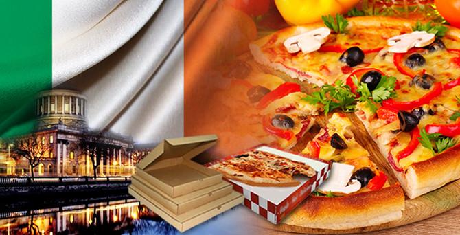 İrlanda'nın pizzaların kutusu bizden gidecek