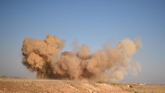 PYD'nin kampında patlama
