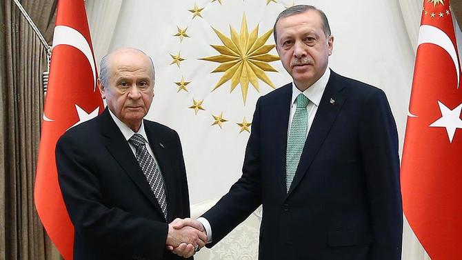 Erdoğan ve Bahçeli, Beştepe'de görüştü