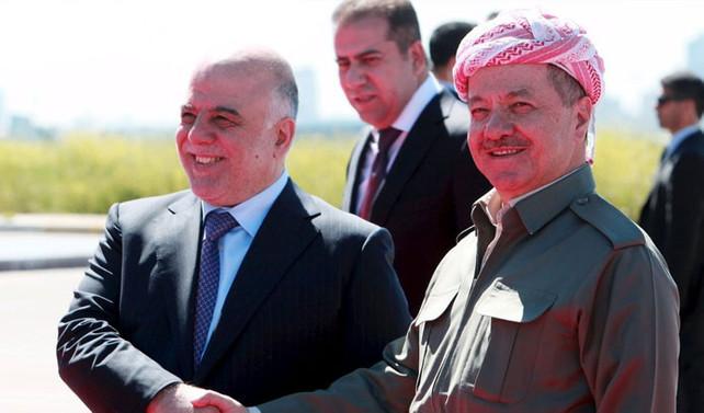 Barzani ve İbadi bir araya geldi
