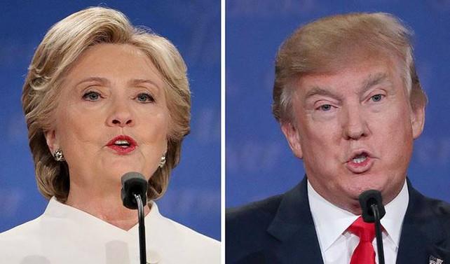 Clinton ve Trump oylarını New York'ta kullandı