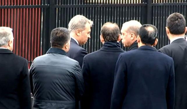 Erdoğan olay yerinde incelemelerde bulundu