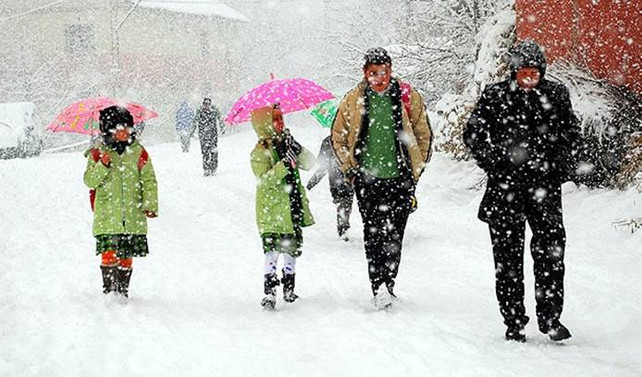 20 kentte okullara kar tatili