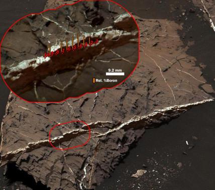 Mars'ta bor minerali bulundu
