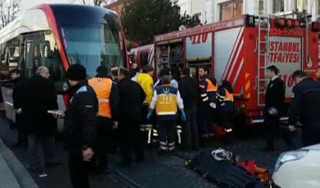 Beyazıt'ta tramvay kazası