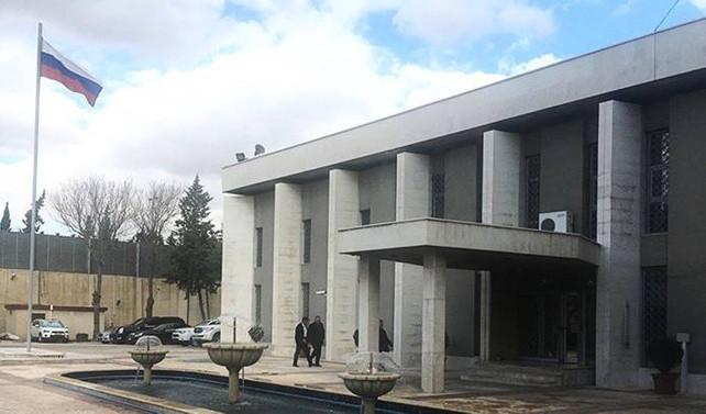 Şam'daki Rusya Büyükelçiliği'ne havan topu düştü
