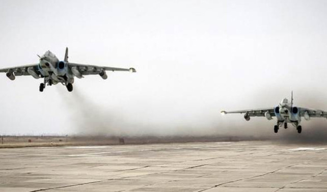 Rus jetleri ilk kez El Bab'ı vurdu
