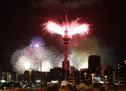 Yeni Zelanda yeni yıla girdi