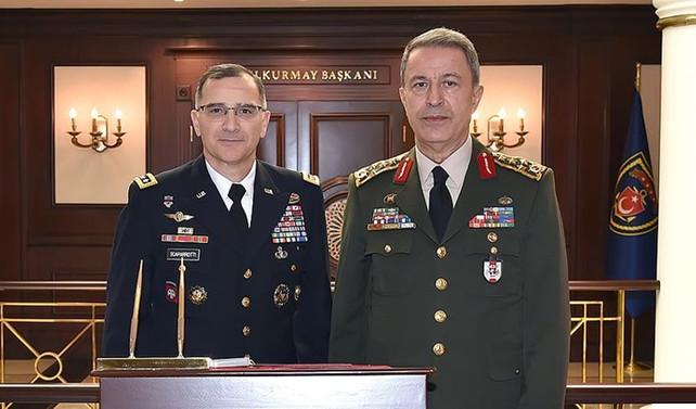 Orgeneral Akar, Avrupa Müttefik Kuvvetler Komutanı Scaparrotti ile telefonda görüştü