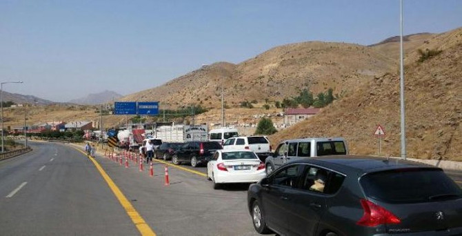 PKK yol kesti, 1 polisi yaraladı