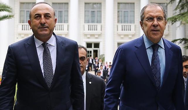 Çavuşoğlu ile Lavrov 'Fırat Kalkanı'nı konuştu