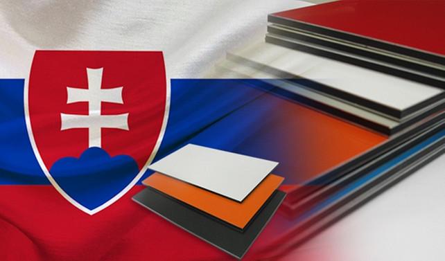 Slovakya için kompozit ACP panel ithal edilecek