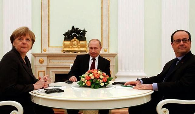 Merkel, Hollande ve Putin Suriye'yi görüştü