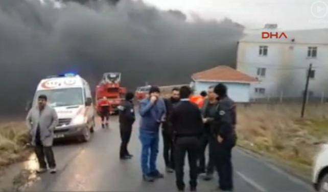 Plastik fabrikasında patlama: 4 yaralı