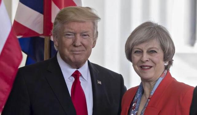 ABD Başkanı Trump, İngiltere Başbakanı May ile görüştü