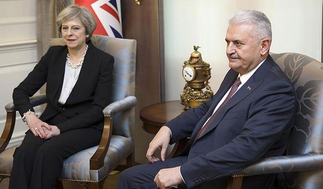 Başbakan Yıldırım, Theresa May ile görüştü
