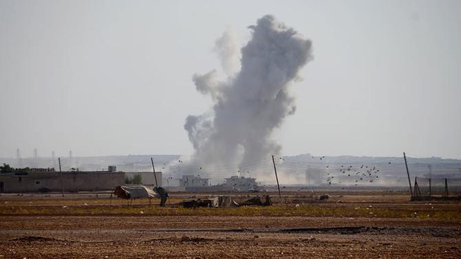 Savaş uçakları DAEŞ'i vurdu