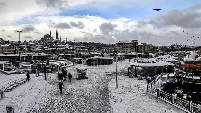 İstanbul'a yarın 20 cm kar yağacak