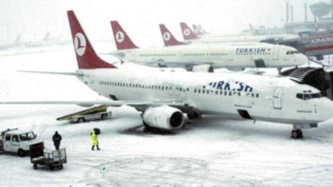 THY'den yolculara 'kar' uyarısı