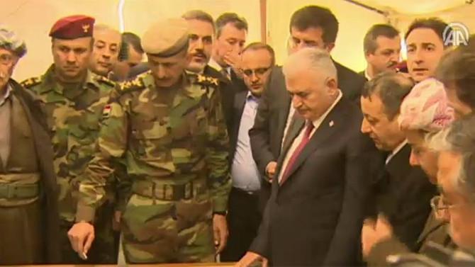 Yıldırım, Erbil'deki Peşmerge cephesini ziyaret etti