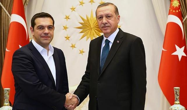 Cumhurbaşkanı Erdoğan, Çipras ile Kıbrıs'ı görüştü