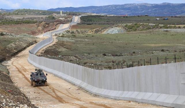 Suriye sınırına 755 kilometrelik duvar