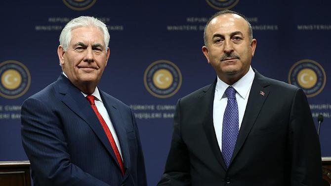 Çavuşoğlu ile Tillerson görüştü