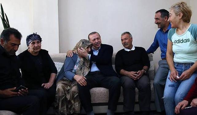 Erdoğan'dan vatandaşlara sürpriz ziyaret
