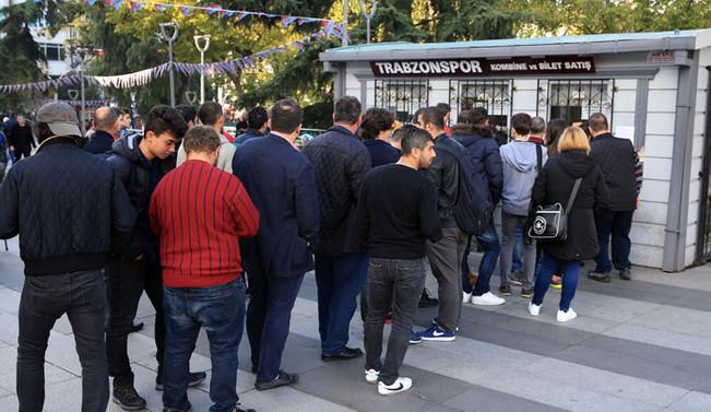 Trabzonspor-Galatasaray maçına yoğun ilgi