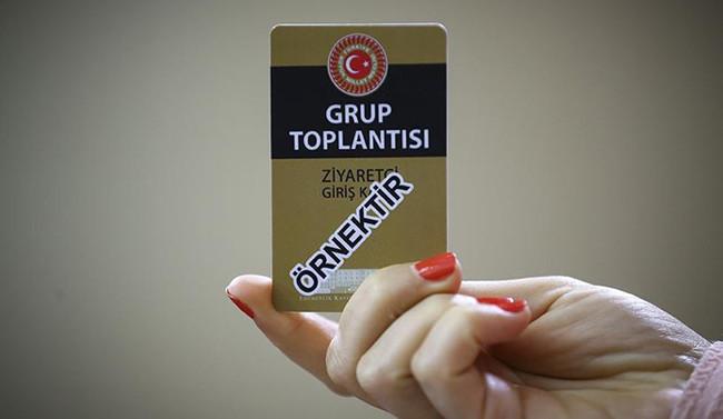 Grup toplantılarına özel ziyaretçi kartı