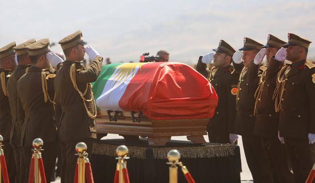 Talabani için tören düzenlendi