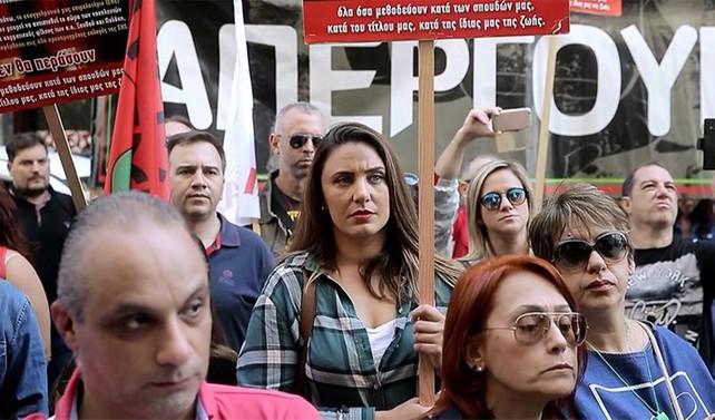 Yunanistan'da hemşireler grevde
