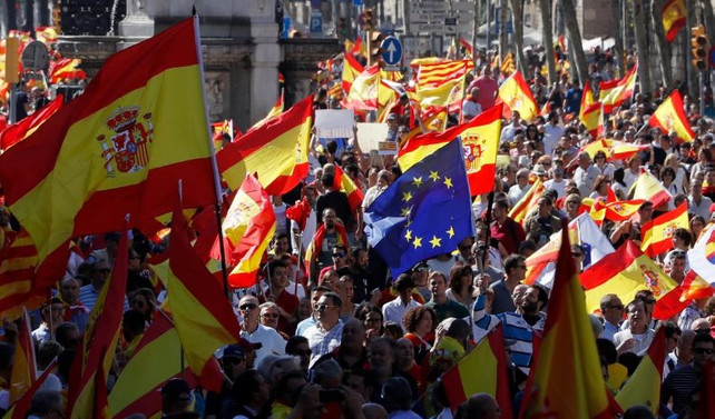 Barselona'da bağımsızlık karşıtı gösteri