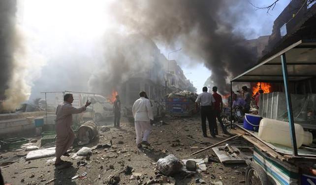 İdlib'te pazar yerine saldırı