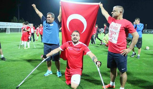 Ampute Milli Futbol Takımımız, Avrupa şampiyonu oldu