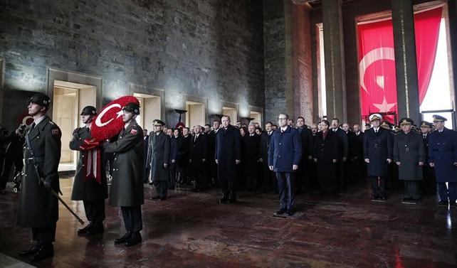 Anıtkabir'de resmi tören düzenlendi