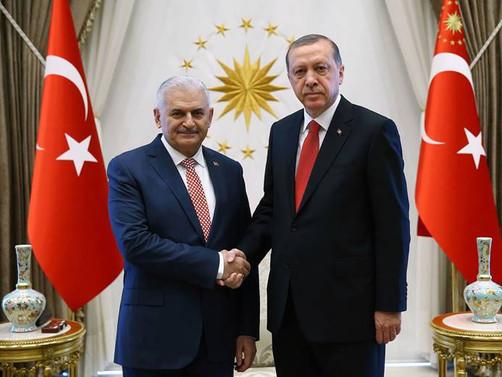 Cumhurbaşkanı Erdoğan, Yıldırım ve Akar'la görüştü
