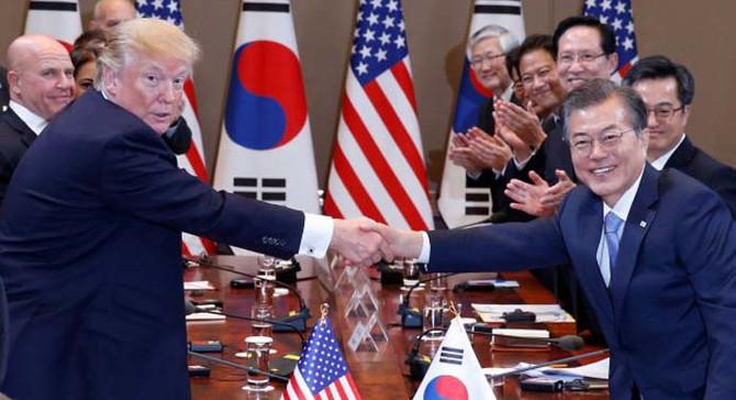 Trump: Kuzey Kore'ye karşı askeri güç kullanmaktan çekinmem