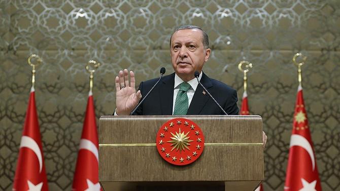 Erdoğan Muhtarlar Toplantısı'nda konuştu