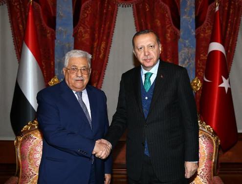 Erdoğan, Abbas ile bir araya geldi