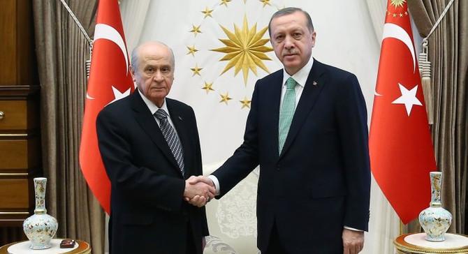 Bahçeli'den Cumhurbaşkanı Erdoğan'a tebrik