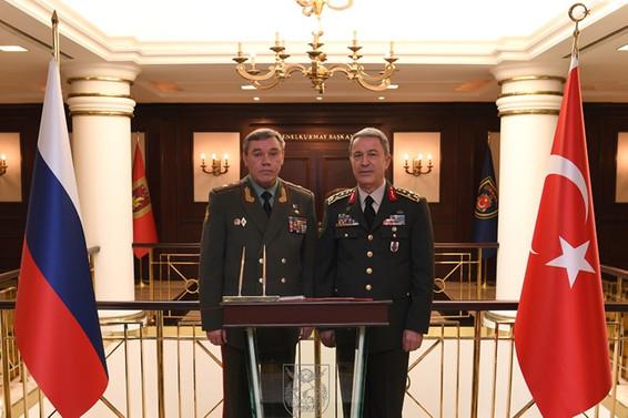 Akar, Rusya Genelkurmay Başkanı ile görüştü