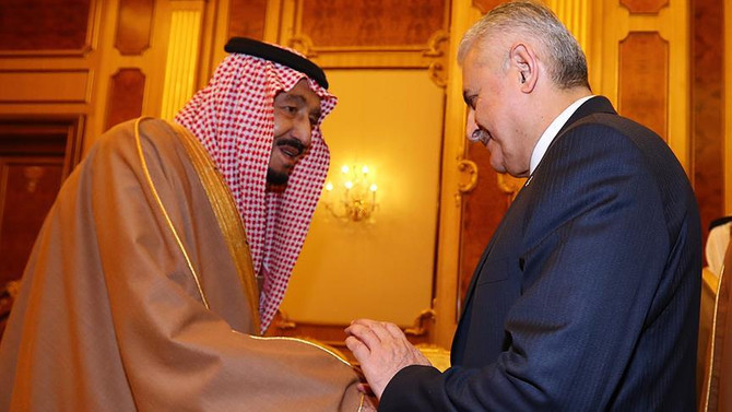 Başbakan Suudi Arabistan Kralı ile görüştü