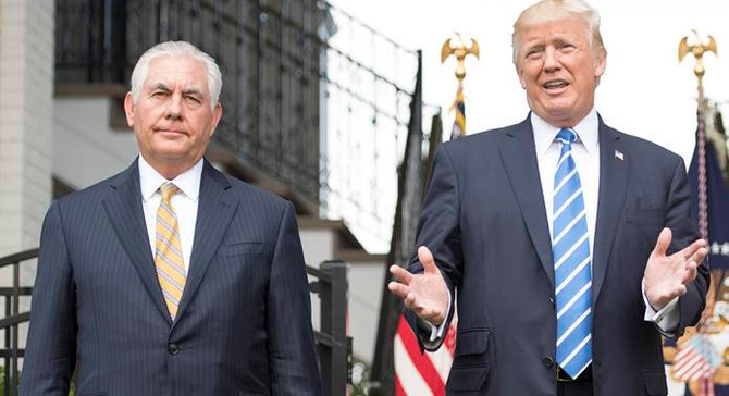 Tillerson'dan Trump'a destek