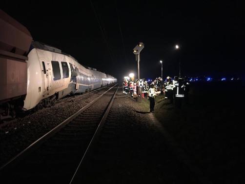 Almanya'da iki tren çarpıştı