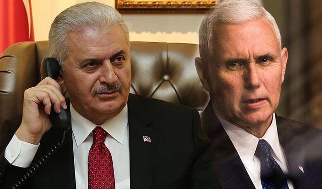 Başbakan Yıldırım ile ABD Başkan Yardımcısı Pence görüştü