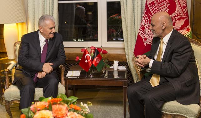 Başbakan Yıldırım Afganistan Cumhurbaşkanı ile görüştü