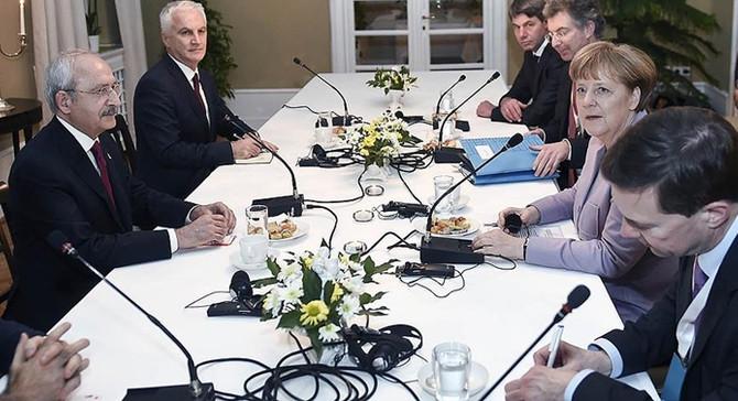 Merkel ile Kılıçdaroğlu görüştü